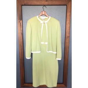 St. John Retro Dress and Cardigan Set